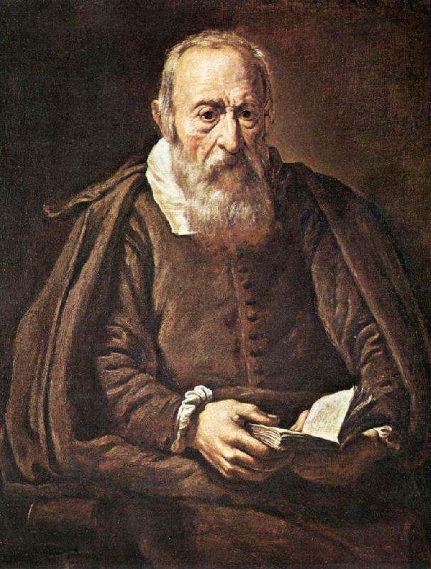 BASSETTI, Marcantonio Portrait of an Old Man with Book g France oil painting art